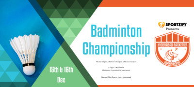 Hyderabad Racketier Badminton Championship - 2nd Edition
