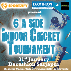 6 a side Indoor Cricket Tournament