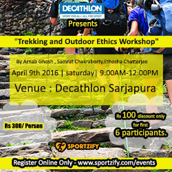 Decathlon Trekking and Outdoor Ethics Workshop - Bangalore