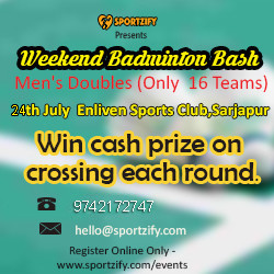 Weekend Badminton Bash - July - Enliven Sports Club
