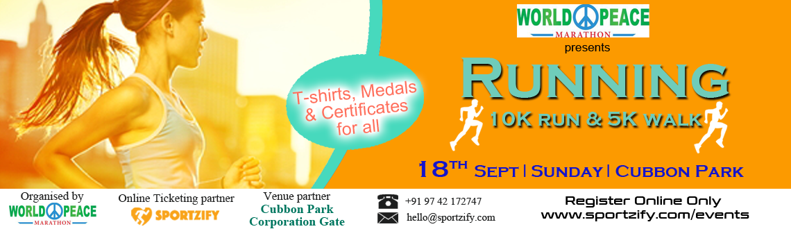 World Peace Marathon 2016 Bangalore