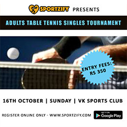Sportzify Adults Table Tennis Tournament