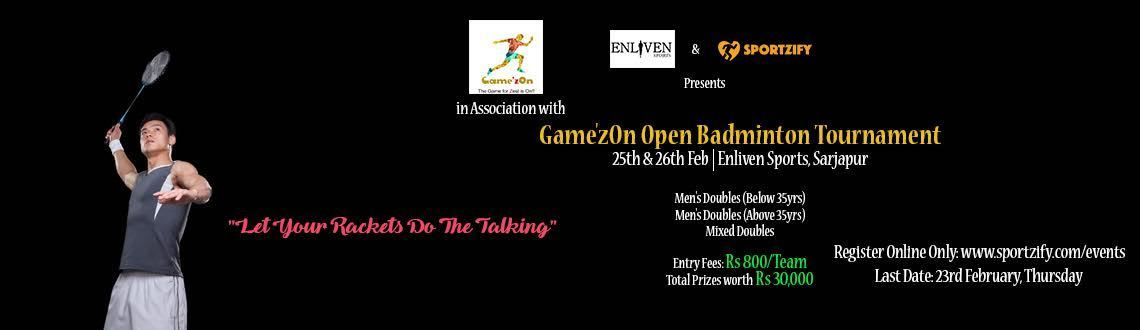 Game'zOn Open Badminton Tournament