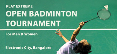 Play Extreme Open Badminton Tournament