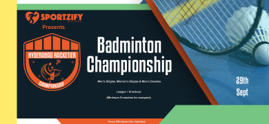 Hyderabad Racketier Badminton Championship -1st Edition