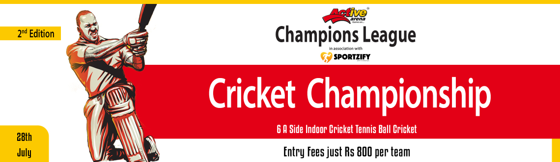 Active Arena Cricket Champions League 2nd Edition